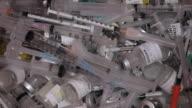 ECU ZO Empty Medication Bottles and Syringes in Medical Waste Bin / Richmond, Virginia, USA