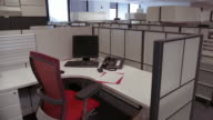 MS, Empty office cubicle, New York City, New York, USA