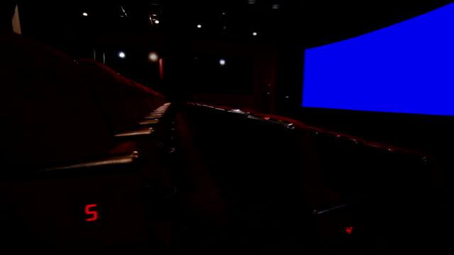 Empty red cinema hall