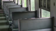Empty seats in the train.