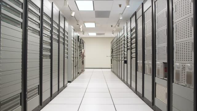 WS DS Empty server room corridor, Dallas, Texas, USA