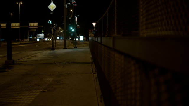 Empty Street At Night