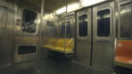 Empty Subway Interior