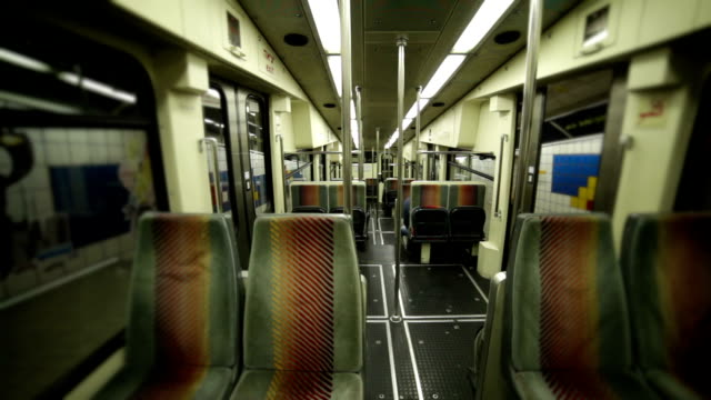Empty Subway train seats