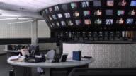 WS Empty television control room, Dallas, Texas, USA
