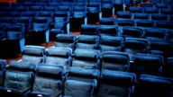 Empty theater seats.