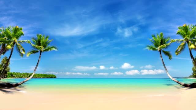 Leere tropische Strand.