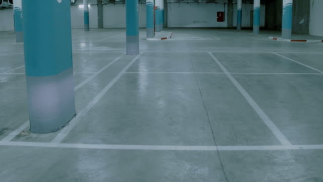 Empty underground parking lot