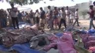 60 en su mayoria prisioneros murieron en el oeste de Yemen en ataques aereos atribuidos a la coalicion arabe bajo mando saudi contra edificios de los...