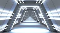 Endlose futuristische passage