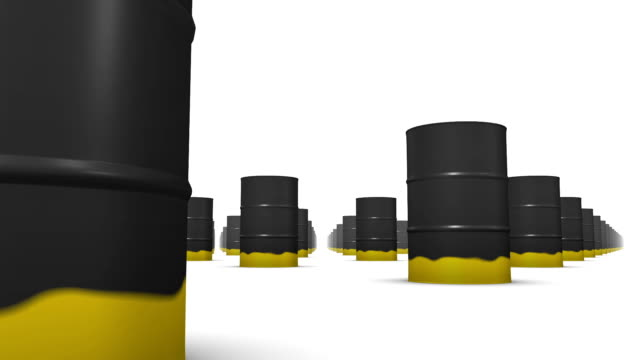 Endless Oil Drums (Black and Gold) low angle loop