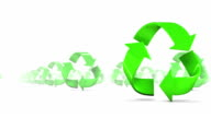 Endless Recycle Symbols low angle loop