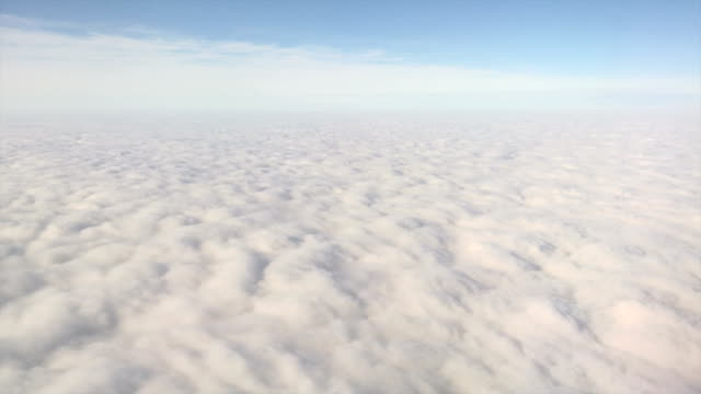 Endless solid cloudfield aerial view