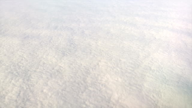 Endless solid cloudfield looked like snowfield from above