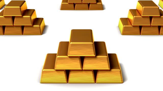 Endless stacks of Gold Ingots vertigo effect