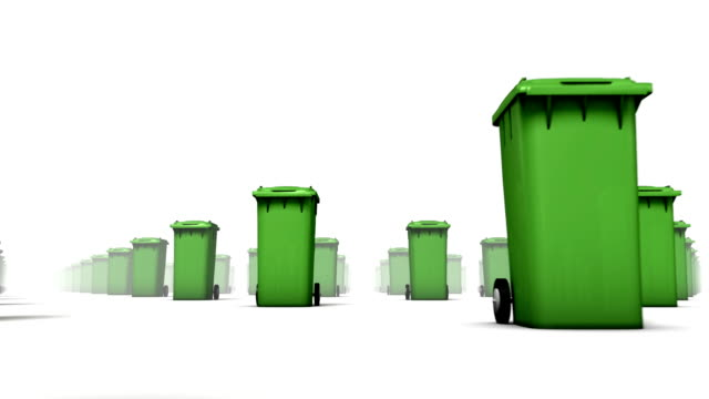 Endless Trash Cans low angle loop (Green)