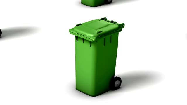 Endless Trash Cans vertigo effect (Green)