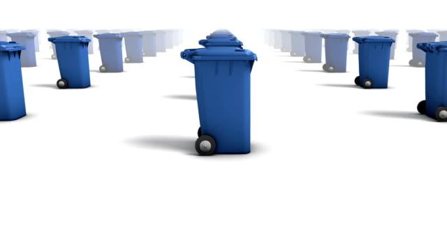 Endless Trashcans side view loop (Blue)