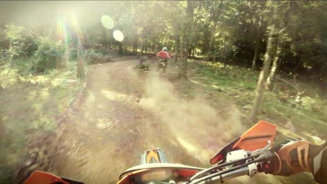 Enduro motorbike riding point of view