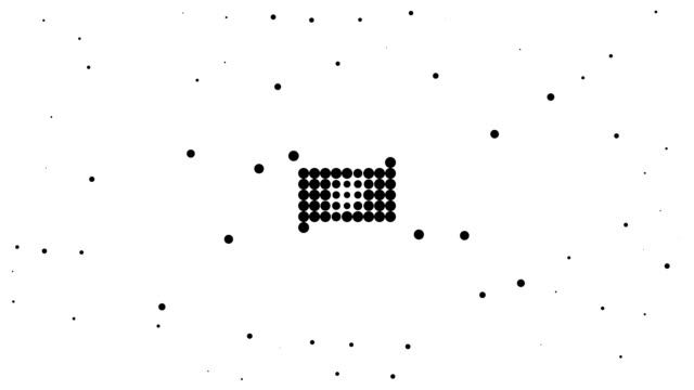 RECTANGLE / CIRCLE - energetic field, pure black dots (TRANSITION)