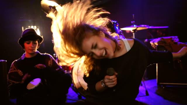 Energetic singer