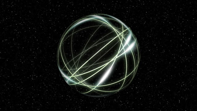 Energy ball with light streaks.