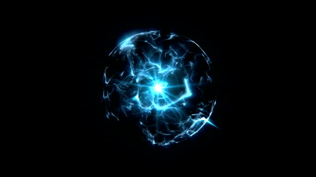 Energy or plasma ball blue