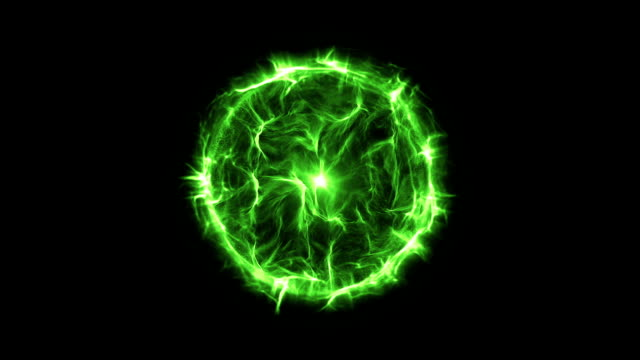 Energy or plasma ball new green