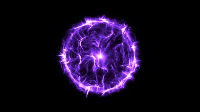 Energi eller plasma boll nya lila
