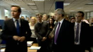 David Cameron visits Citizens Advice Burea Chris Huhne speech to gathered CAB staff SOT on key role of Citizens Advice Burea and dealing with energy...