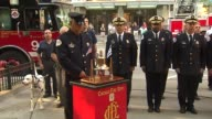 Engine 98 in Chicago holds memorial service for 9/11 victims Firefighter Rings Bell At 9/11 Memorial Service on September 11 2013 in Chicago Illinois