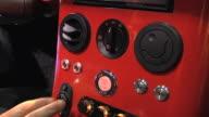 CU Engine start and stop button of Li-Ion Motors Corp Inizio at Detroit Auto Show / Detroit, Michigan, USA