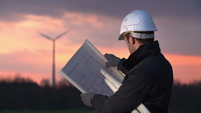 Engineer and Wind Turbine