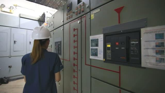 Engineer in control room