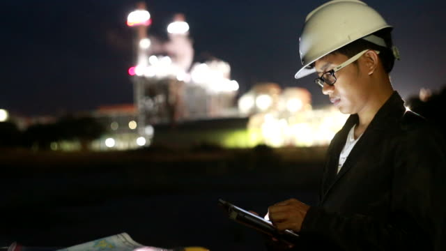 Engineer Working at Nuclear Power Plant