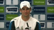 Alastair Cook press conference Cook press conference SOT on up coming test match with India