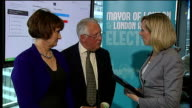 POLITICS / England and Wales local elections 2012 Labour make gains ENGLAND London City Hall INT Bob Neill MP and Tessa Jowell MP LIVE interview SOT
