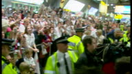 England bring home the Webb Ellis Cup after winning the 2003 Rugby World Cup Shows interior shots Johnny Wilkinson walks through the crowd at the...