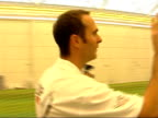 England captain Michael Vaughan observes a net session for members of the public ENGLAND London INT Back view of Michael Vaughan as he watches...