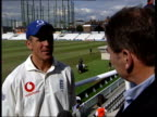 England CC V South Africa CC final test Alec Stewart interview SOT It's a very happy day just because England have won / This isn't about Alec...