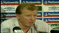 England coach Steve McClaren press conference ENGLAND Manchester INT Steve McClaren press conference SOT As I said before before our first game...