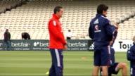 England cricket team tarining England cricketers conducting fitness training on field