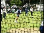 England cricketer Alec Stewart England players in the nets England batsman Mark Butcher