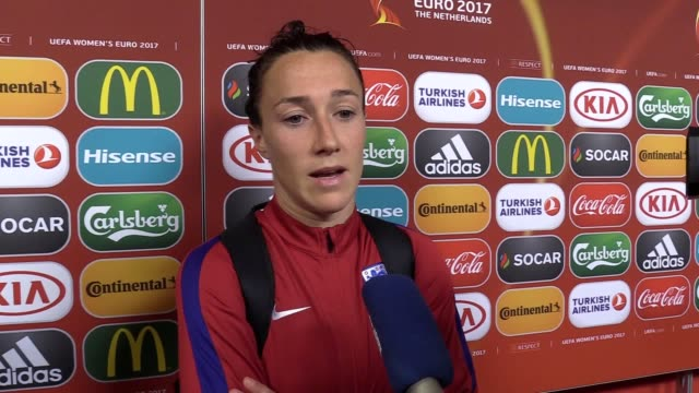 England defender Lucy Bronze reacts after her side's 30 loss to the Netherlands in the Women's European Championship Semifinal