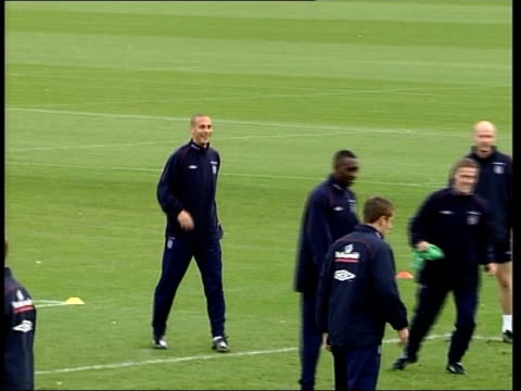 England FC friendly preparations ITN Michael Owen in England training PULL OUT among team mates Owen along during training PULL Sven Goran Eriksson...