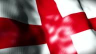 England Flag waving, looping