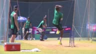 England looking to atone for a humiliating early exit from last years 50 over World Cup train ahead of their opening cricket World Twenty20 match...