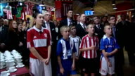 England loses 2018 World Cup bid T02121029 Sunderland PHOTOGRAPHY ** Niall Quinn mouthing 'hard luck' as standing behind children wearing football...