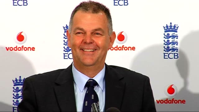 England name squad for Stanford Super Series ENGLAND London Lord's INT Press conference setups Geoff Miller press conference SOT Talks about why...