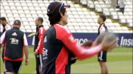 England net practice ahead of oneday match against India ENGLAND Durham Chester Le Street EXT Various of England Cricket Team players doing warmup...